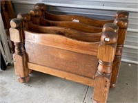 thick wood head and footboards to make bunkbeds-