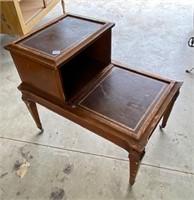 vintage side table on wheels  #52