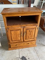 Oak microwave or small tv or air fryer cabinet