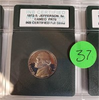 LOT OF 1972-S GRADED COINS  (37)
