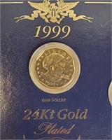 1999 SET OF 24KT GOLD PLATED COINS (41)