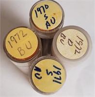 1970-S;1971-D & 1972 LOT OF PENNIES (35)