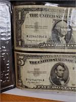 SILVER CERTIFICATE & BLUE SEAL $5 NOTE (45)