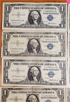 LOT OF 10 SILVER CERTIFICATES (46)