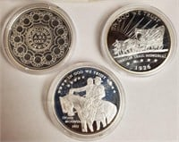 LOT OF 3 PLATINUM LAYERED COINS - SEE PICS (16)