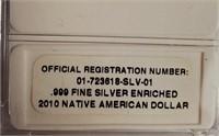 2010 SACAGAWEA .999 FINE SILVER DOLLAR (22)