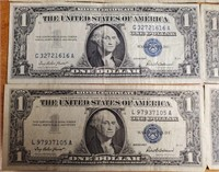 LOT OF 10 SILVER CERTIFICATES (49)