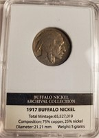THREE 1917 BUFFALO NICKELS (23)