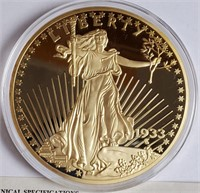 24KT LAYERED PROOF 1933 DOUBLE EAGLE COIN (19)