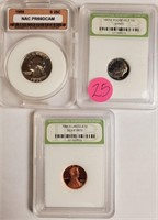 LOT OF GREADED COINS - SEE PICS (25)