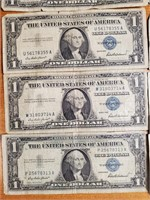 LOT OF 10 SILVER CERTIFICATES (48)