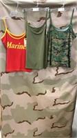 6 Each Women's Tee Tops 2 Marines/3 Od