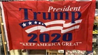 5 Each Red Trump 2020 Keep America Great Flags New