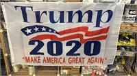 5 Each White Trump 2020 Keep America Great Flags