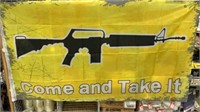 5 Each AR15 Come And Take It Flags New