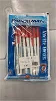 54 Each Paper Mate Red Ink Pens 10 Per New