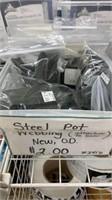 13 Each Steel Pot OD Green Webbing New