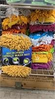 25 Each Microfiber Chenille Wash Mitt New