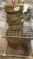 9 Each 4 OD Green 5 Brown Burlap 2in Rolls New