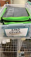 15 Each IPad Covers Black & Lime Green New