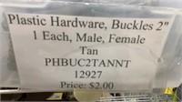 64 Each Tan 2in Buckles Male & Female New