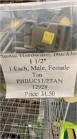 195 Each Tan 1 1/2in Buckles Male & Female New
