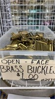 106 Each Open Face Brass Buckles New