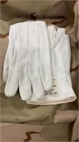 14 Each White Gloves Cloth Asbestos New