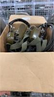 2 Each Old Radio Headset Used