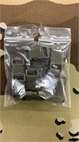 100 Each Olive Drab Tiny Buckles Male & Female New