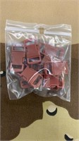 100 Each Brown Tiny Buckles Male & Female New