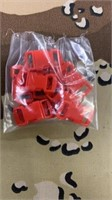 100 Each Red Tiny Buckles Male & Female New