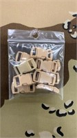 125 Each Tan Tiny Buckles Male & Female New