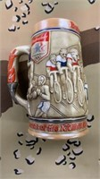 4 Each 1984 Budweiser LA Olympic Beer Stein New