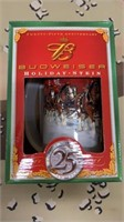 2 Each Budweiser 25th Anniversary Holiday Stein