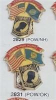 2 Each Pow / Mia / US 50 States Military Pins New