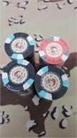 4 Each U.S. Marine Corps Poker Chips New