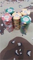 5 Each U.S. Air Force Poker Chips New