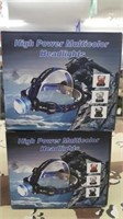 2 Each LED Rechargeable Headlamp New