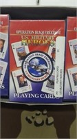 36 Each U.S. Military Heroes Playing Cards New