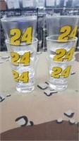 6 Each Jeff Gordan Shot Glasses New