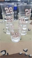 7 Each Kevin Harvick Shot Glasses New