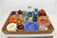 Assortment of Bottles & Glassware