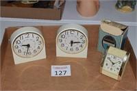 (3) Westclox Alarm Clocks
