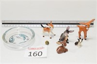 Porceline Animal Figurines & Trinket Holder