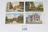 (4) Antique Postcards (DC, Kentucky, Maine, Mass.)