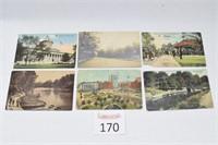 (6) Antique Ohio Postcards