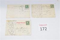 (3) Antique Peoria Illinois Postcards