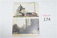 (2) Antique Farmington Postcards