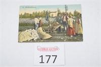 Antique Weighing Cotton Postcard - Black Americana